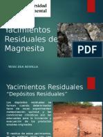 Yacimientos residuales magnesita