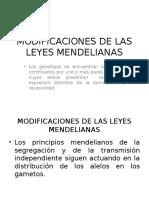 Modificaciones de Las Leyes Mendelianas
