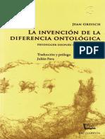 La invención de la diferencia ontológica - Jean Greisch