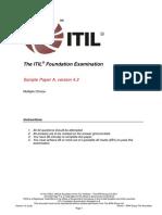 ITILFoundationExaminationSampleAv4.2