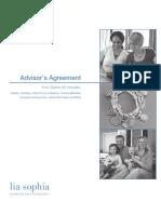 Lia Sophia AdvisorAgreement en US ~2009