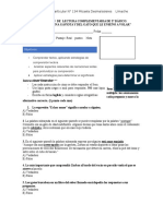 Evaluación de Lectura Complementaria Gaviota