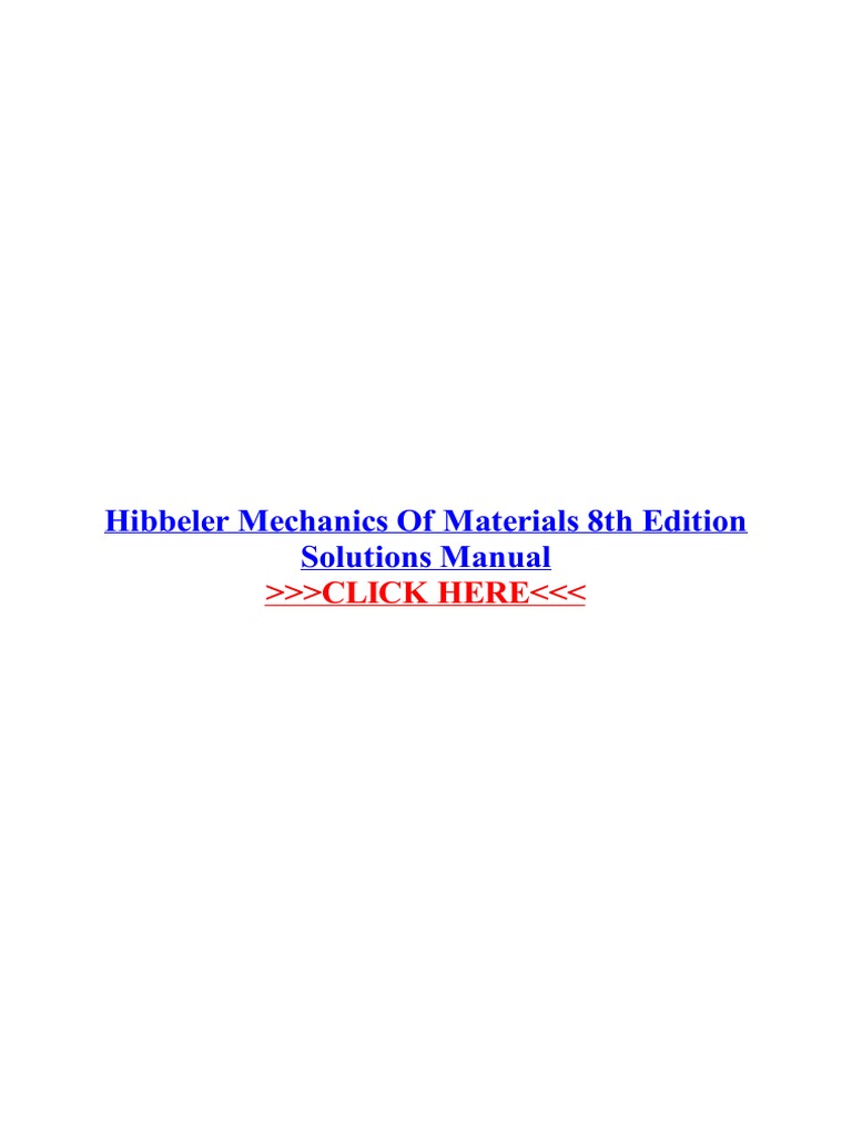Hibbeler mechanics of materials 8th edition solutions manualpdf fandeluxe Choice Image