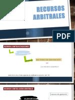 RECURSOS ARBITRALES