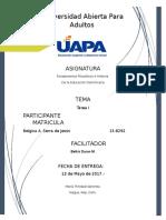 Fundamentos Filosoficos e Historia de La Educacion Dominicana - Tarea I