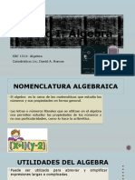 Algebra EBE - 1314 Unidad I