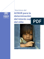 ACNUR. Directrices del ACNUR para la determinación del interés superior del niño.pdf