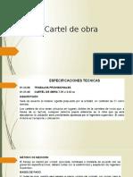 Cartel de Obra