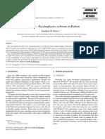 PsychoPy—Psychophysics Software in Python