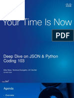 Deep Dive on JSON & Python Coding 103DEVNET-2006