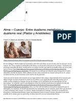 Alma – Cuerpo_ Entre Dualismo Metafísico y Dualismo Real (Platón y Aristóteles) _ La Litera Literaria