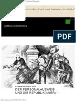 Der Personalausweis Und Die Republik(Aner) - V11 - AG Mensch in Württemberg
