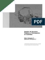Gestion de Servicios Publicos y Participacion en Colombia