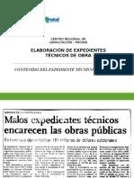 Contenido Expediente Técnico - CRC PROIND LA LIBERTAD