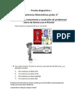 Prueba Diagnostica-competencias Matemáticas (Resolución de Problemas)
