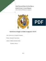 Interferencias Del Inglés en El Habla de Emigrantes