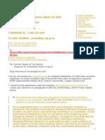 Request Immediate Public Inquiry September 262008