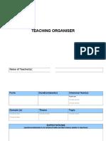e Teaching Organiser