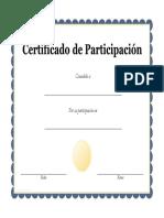 certificado de partipacion