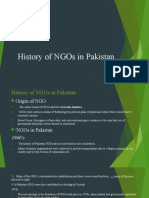 History of NGOs in Pakistan