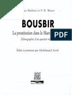 Bousbir La Prostitution Dans Le Maroc