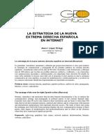 La Estrategia de La Nueva Derecha Española en Internet
