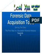 Forensic Data Acquisition Tools