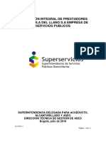 (2016)+Evaluación+Integral+De+Prestadores+Bioagricola+del+Llano+S.A.+Empresa+de+Servicios+Públicos+S.A+E.S.P