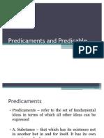 Predicaments and Predicable