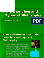 The Branches and Types of Philosophy