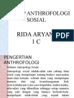 Konsep Anthrofologi Sosial Power Point Rida Aryani 1c