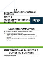DPP2013 Unit 1 Overview of International Business