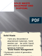 Solid Waste Management and Disposal1