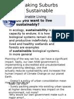 Making Suburbs Sustainable1