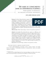 Trindade - Do Saber Ao Conhecimento o Programa Da Epistemologia Platônica