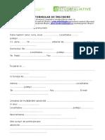 Formular Inscriere EduHOSPICE