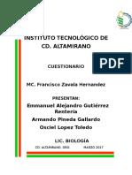 Cuestionario Botanica