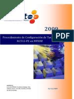 Procedimiento de Configuracion de Tarjetas RC512-FE en NVIEW