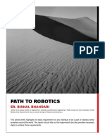 Path to Robotics