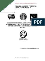 Reglamento Interno de Café Certificado 2015