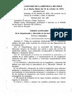 Código Sanitario Chile 1925