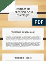 Campos de Aplicación de La Psicologia