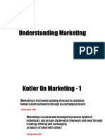 1 Understanding Marketing