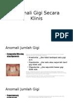 Anomali Gigi Secara Klinis