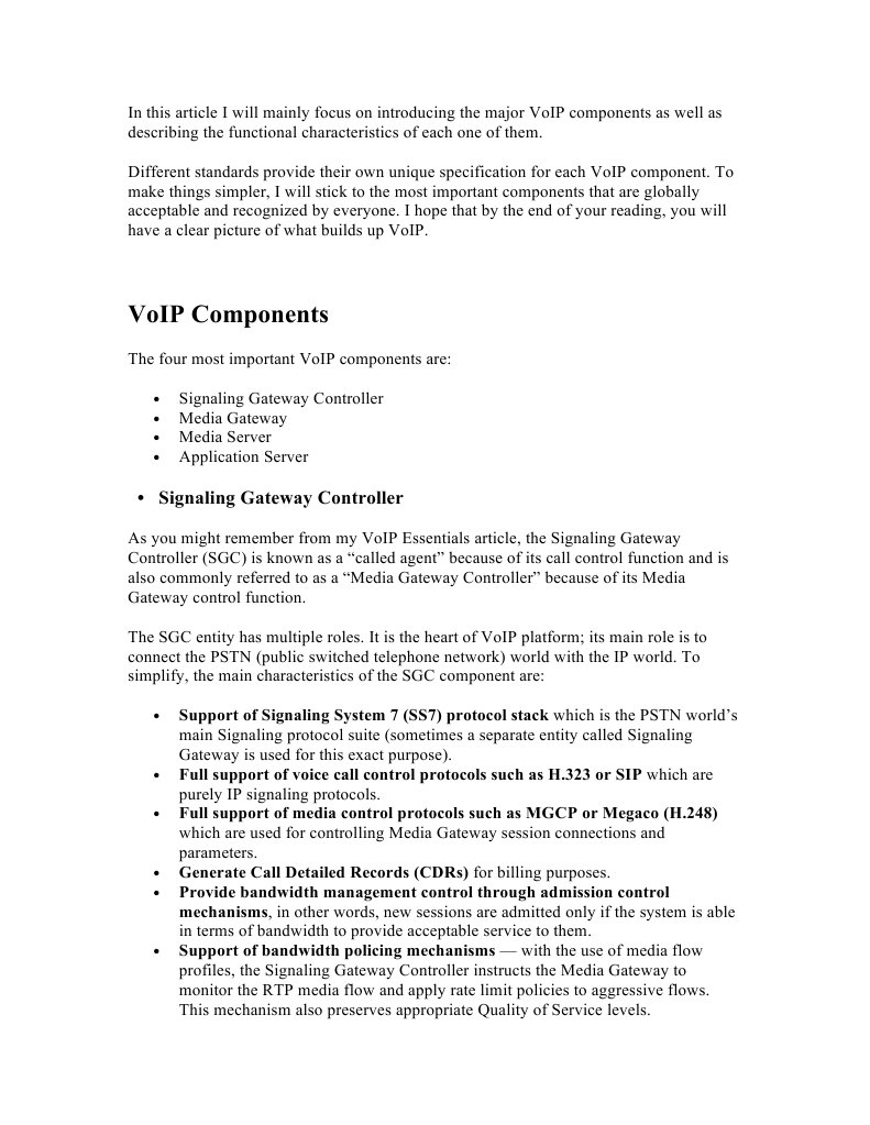 VoIP Components | Voice Over Ip (8 views)