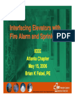 Interfacing Fire Alarm and Elevators