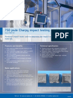 750 Joule Charpy Impact Testing Machine