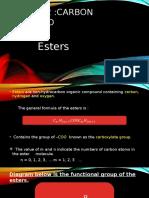 Chapter 2 Chemistry Ester