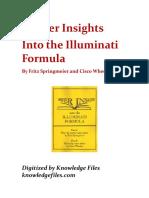 Deeper Insights into the Illuminati Formula