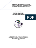 Publikasi Monitoring Pemantauan Kesehatan Ikan Dan Lingkungan Di Desa Tg